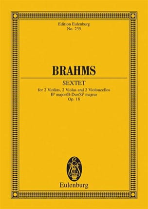 BRAHMS - Streich-Sextett B-Dur op. 18 - Sheet Music - di-arezzo.com