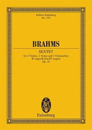 Streich-Sextett B-Dur op. 18 - BRAHMS - Partition - laflutedepan.com