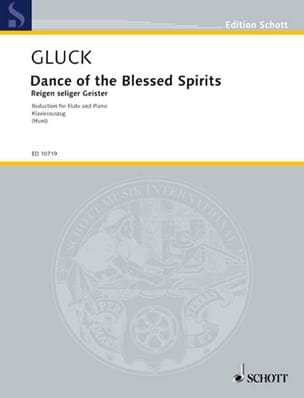 GLUCK - Ballet Scene of the Champs-Elysées by Orphée - Flute and Piano - Sheet Music - di-arezzo.com