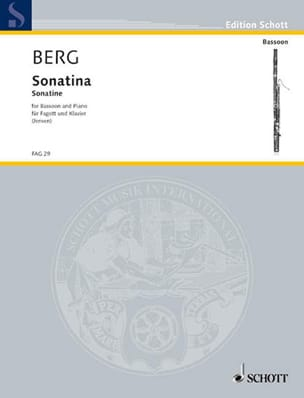 Olav Berg - Sonatina for bassoon and piano - Partition - di-arezzo.fr