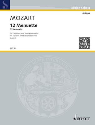 MOZART - 12 Menuette - 2 Violinen Bass Violoncello - Stimmen - Sheet Music - di-arezzo.com