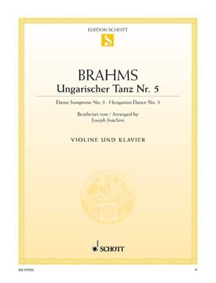 BRAHMS - Ungarischer Tanz N ° 5 - Sheet Music - di-arezzo.co.uk