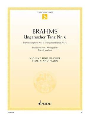 Ungarischer Tanz n° 6 BRAHMS Partition Violon - laflutedepan