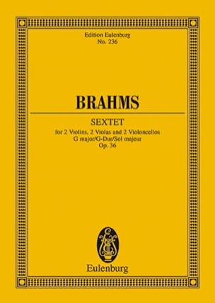 Streich-Sextett G-Dur, Op. 36 BRAHMS Partition laflutedepan