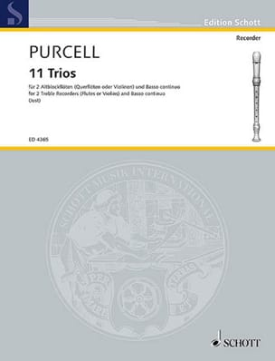Henry Purcell - 11 Trios - Sheet Music - di-arezzo.com