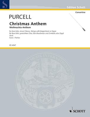 Weihnachts-Anthem - Partitur - PURCELL - Partition - laflutedepan.com