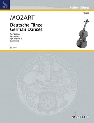 Deutsche Tänze, Bd. 1 MOZART Partition Violon - laflutedepan