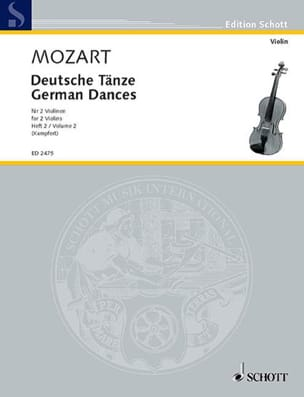 MOZART - Deutsche Tänze, Bd. 2 - Sheet Music - di-arezzo.co.uk