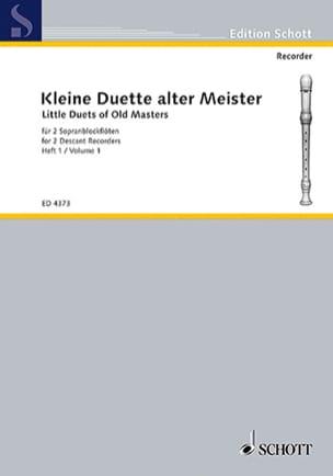 Kleine Duette alter Meister - Heft 1 - laflutedepan.com