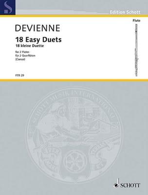 18 Kleine Duette - 2 Flöten François Devienne Partition laflutedepan