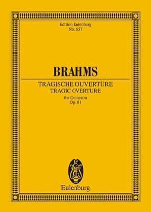 BRAHMS - Tragische Ouvertüre, op. 81 - Partition - di-arezzo.fr