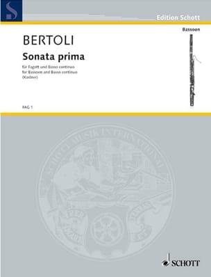 Sonata prima -Fagott und BC - laflutedepan.com
