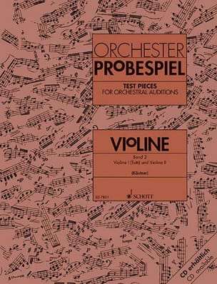 Oswald Kästner - Orchester-Probespiel - Violine Bd. 2 - Sheet Music - di-arezzo.com
