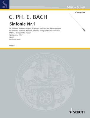 Orchester-Sinfonie n° 1 D-Dur Wq 183 n° 1 - Conducteur laflutedepan