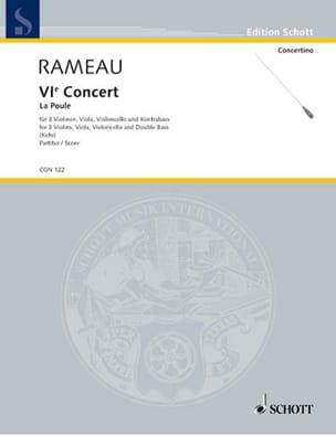 Concert n° 6 La Poule - Partitur Jean-Philippe Rameau laflutedepan