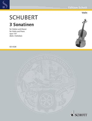 Sonatinen, op. 137 - SCHUBERT - Partition - Violon - laflutedepan.com