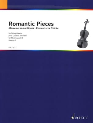 John Kember - Romantic Pieces – String quartet - Partition - di-arezzo.fr