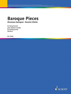 John Kember - Baroque Pieces – String quartet - Partition - di-arezzo.fr