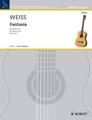 Silvius Leopold Weiss - Fantasie in e-Moll für Gitarre Solo - Partition - di-arezzo.fr