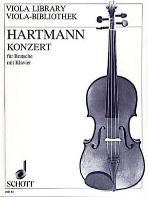 Karl Amadeus Hartmann - Konzert für Bratsche mit Klavier - Partition - di-arezzo.fr