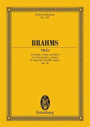 BRAHMS - Trio Es-Dur, Op. 40 - Conductor - Partition - di-arezzo.com