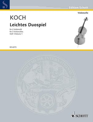 Edwin Koch - Leichtes Duospiel para 2 Violoncelli, Bd 1 - Partitura - di-arezzo.es