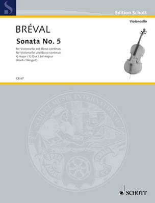 Jean-Baptiste Bréval - Sonata No. 5 G-Dur - Sheet Music - di-arezzo.co.uk