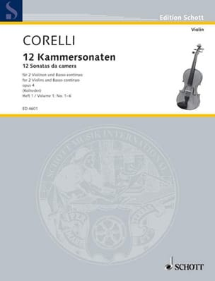 CORELLI - 12 Kammersonaten Op. 4 Bd. 1: Nr. 1-6 - Partition - di-arezzo.co.uk