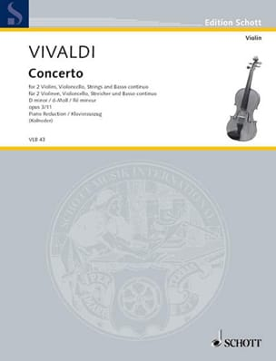 VIVALDI - Concerto in Re Min.Op.3 N ° 11 - Rv .565 - Sheet Music - di-arezzo.co.uk