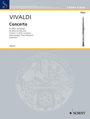 Antonio Vivaldi - Concerto en la mineur (PV 42- RV 461) - Hautbois et piano - Partition - di-arezzo.fr