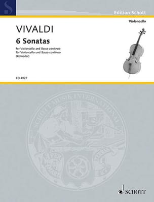 VIVALDI - 6 Sonatas - Cello - Sheet Music - di-arezzo.co.uk