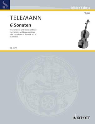 6 Sonaten, Bd. 1 : Nr. 1-3 - 2 Violinen u. Bc TELEMANN laflutedepan