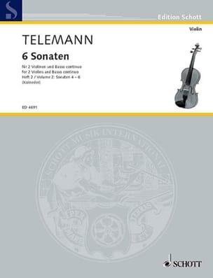 TELEMANN - 6 Sonaten, Bd. 2 : Nr. 4-6 -2 Violinen u. Bc - Partition - di-arezzo.fr