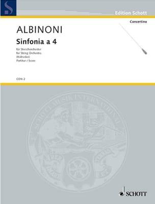Tomaso Albinoni - Sinfonia a 4 - Driver - Sheet Music - di-arezzo.co.uk