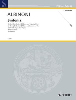 Sinfonia G-Dur - Conducteur ALBINONI Partition laflutedepan