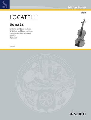 Pietro Antonio Locatelli - Sonate B-Dur op. 6 n° 1 - Partition - di-arezzo.fr