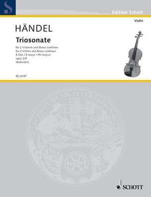HAENDEL - Triosonate E-Dur, op. 2 Nr. 9 - 2 Violinen u. Bc - Sheet Music - di-arezzo.co.uk