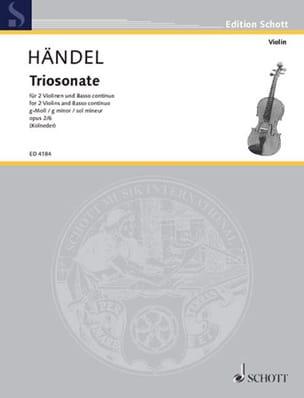 Triosonate g-moll op. 2 Nr. 6 -Stimmen HAENDEL Partition laflutedepan