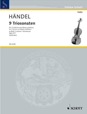 HAENDEL - Triosonate g-moll, op. 2 Nr. 7 - Stimmen - Sheet Music - di-arezzo.com