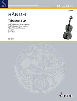 Triosonate F-Dur op. 2 Nr. 5 -Stimmen HAENDEL Partition laflutedepan