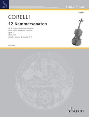 CORELLI - 12 Kammersonaten Op. 2 Vol.3 - Sheet Music - di-arezzo.com