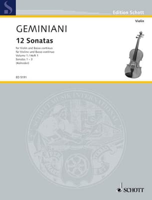 Francesco Saverio Geminiani - 12 Sonaten, Bd 1 - Sheet Music - di-arezzo.com