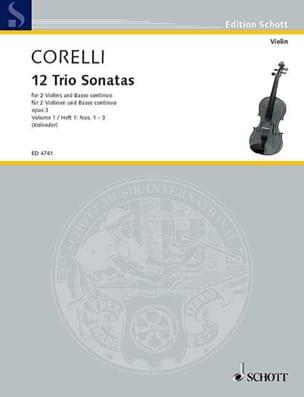 CORELLI - 12 Triosonaten op. 3 - Bd. 1: Nr. 1-3 - 2 Violinen u. Bc - Sheet Music - di-arezzo.com