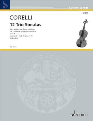 Arcangelo Corelli - 12 Triosonaten op. 3 - Bd. 3 : Nr. 7-9 –2 Violinen u. Bc - Partition - di-arezzo.fr