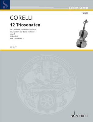 12 Triosonaten Op. 1 Vol.2 : Nr. 4-6 CORELLI Partition laflutedepan