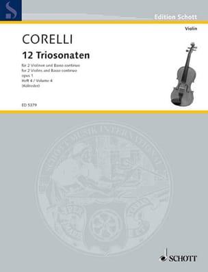 12 Triosonaten op. 1 - Bd. 4 : Nr. 10-12 –2 Violinen u. Bc - laflutedepan.com