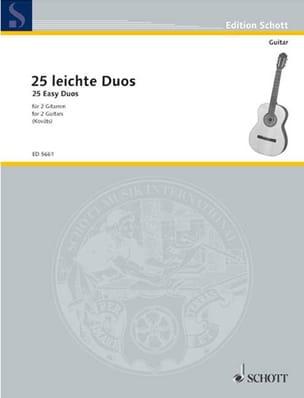 25 leichte Gitarren-Duos - Partition - Guitare - laflutedepan.com