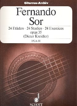 24 Exercices op. 35 - Volume 1 Fernando Sor Partition laflutedepan