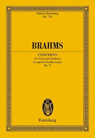 Violin-Konzert D-Dur, op. 77 BRAHMS Partition laflutedepan