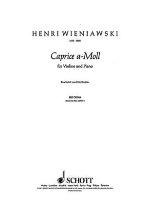 Wieniawski Henryk / Kreisler Fritz - Caprice a-moll - Partition - di-arezzo.fr